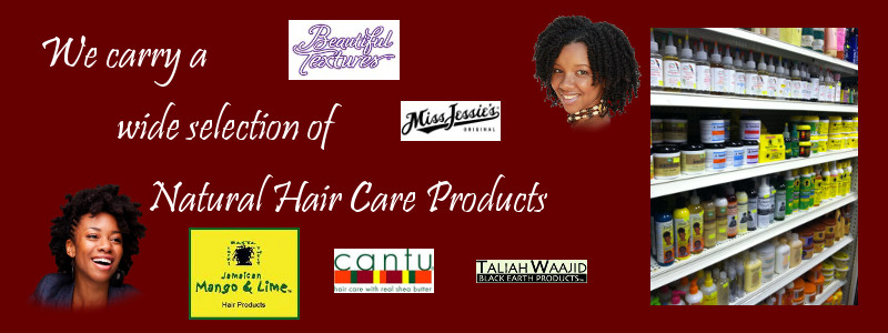 Natural Hair Care Products graphic